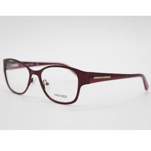 New Eyeglasses Nine West NW1061 535 Red Metal
